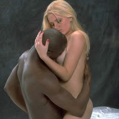white woman with black man